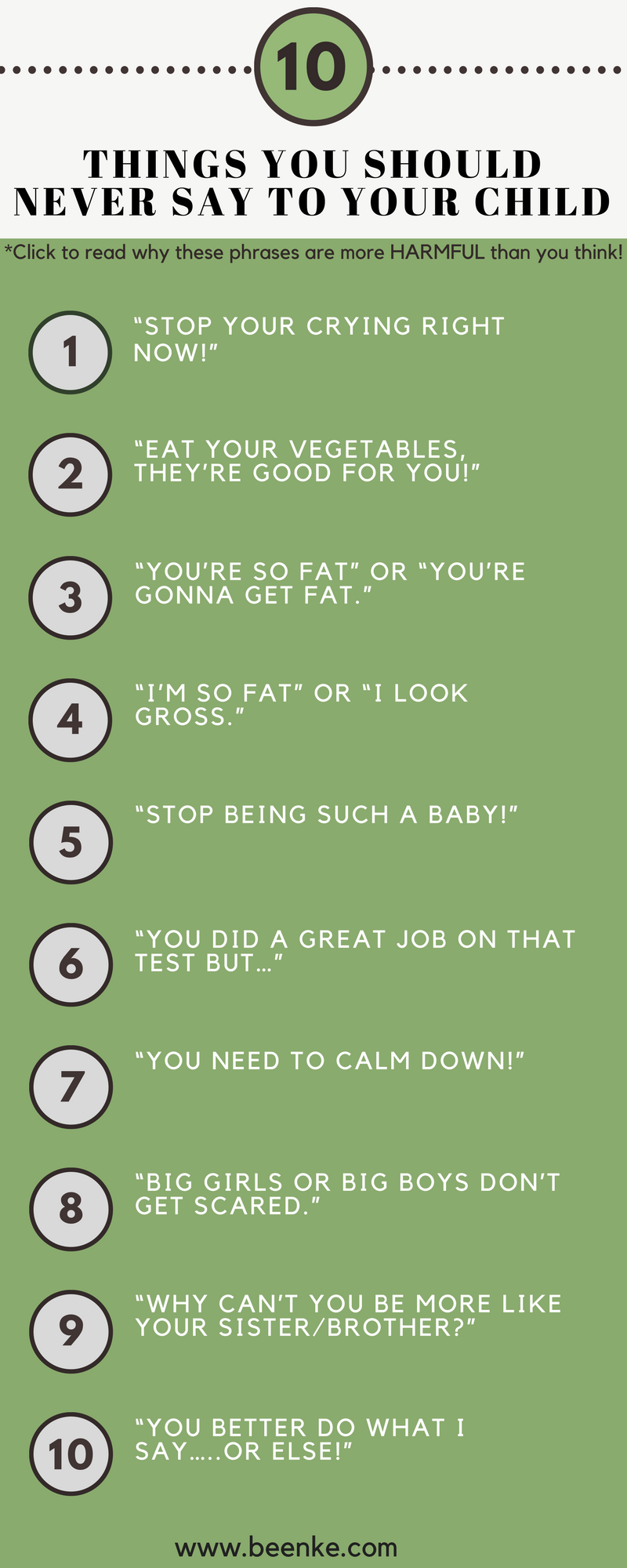 things you should not do