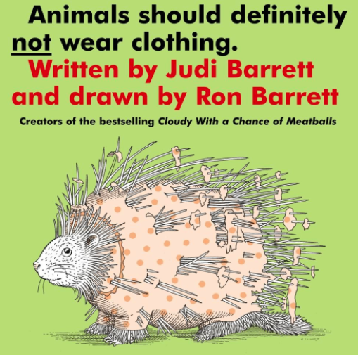 funny books for kids - animals should not wear clothes