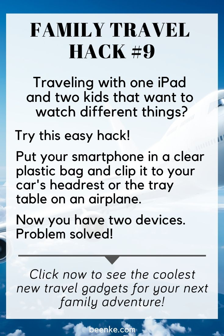 a travel hack for kids and iPods