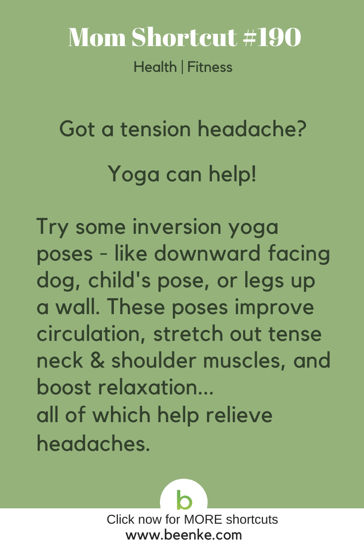 a health hack to relieve headaches